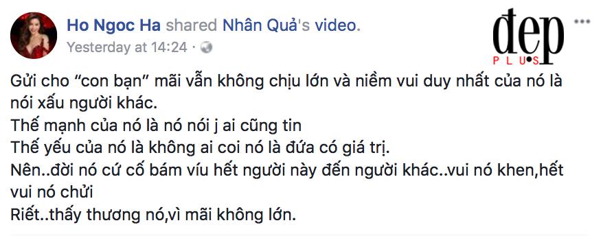 Hồ Ngọc Hà bất ngờ đăng lời Phật dạy, ngầm đá xéo người bạn cũ muốn đâm sau lưng