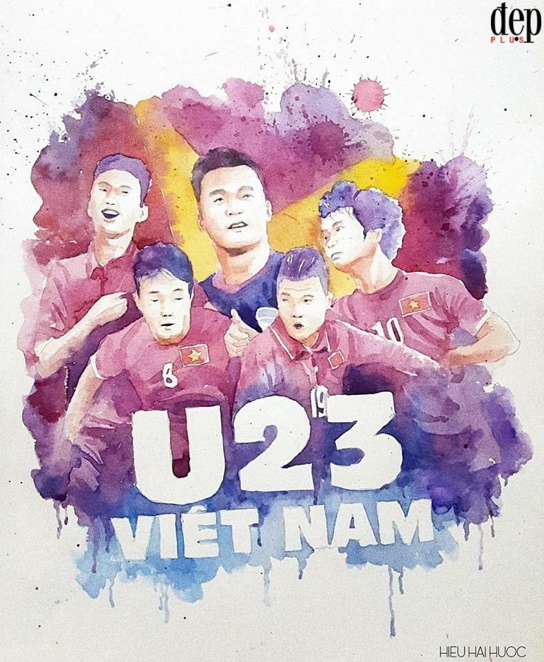 Tổng hợp những fanart cực kì đáng yêu của người hâm mộ dành cho đội tuyển U23 Việt Nam (Phần 2)