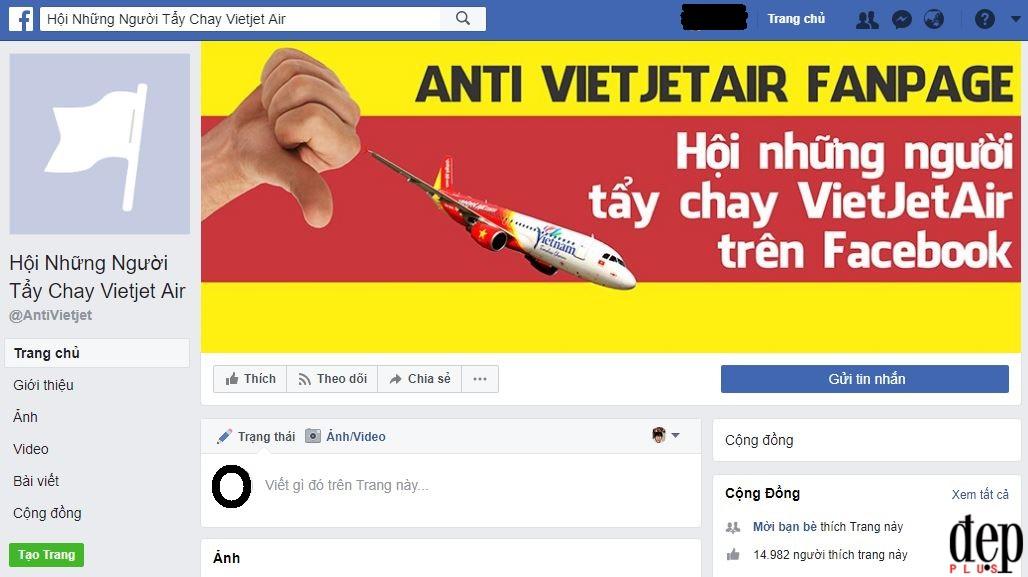 Vietjet Air đóng Fanpage Facebook để lánh nạn sau sự cố đưa người mẫu hở hang lên máy bay đón U23 Việt Nam