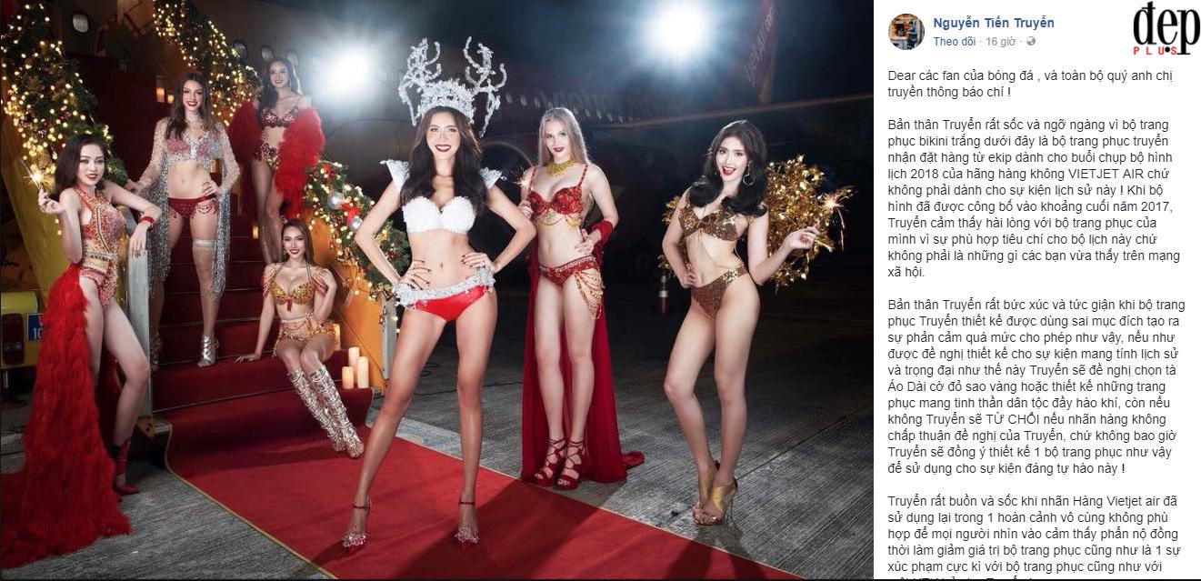 Nhà thiết kế bộ bikini sốc và ngỡ ngàng với hình ảnh phản cảm trên chuyến bay Vietjet Air đón U23 Việt Nam