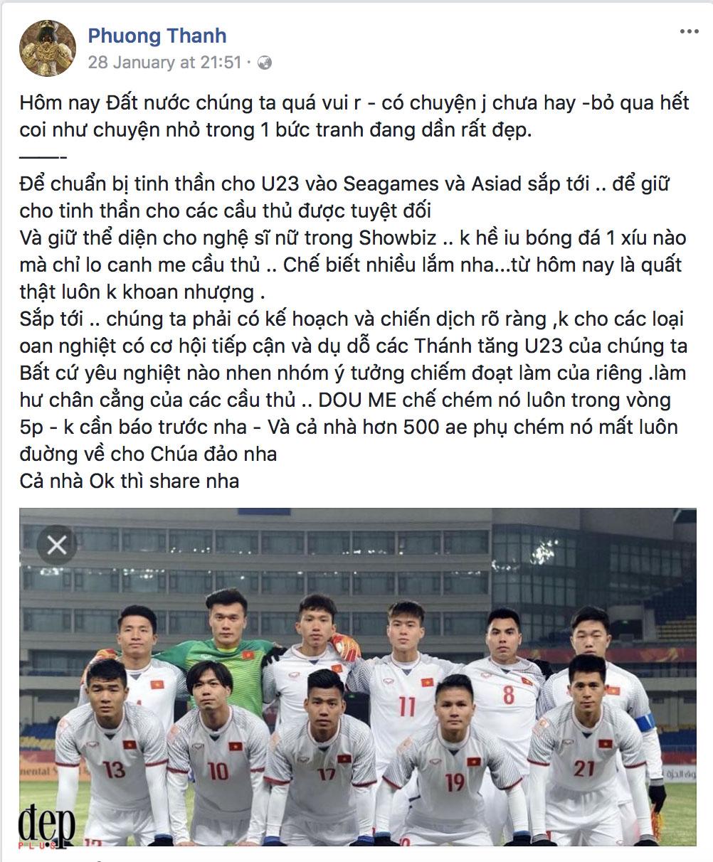 Nhiều sao Việt lên tiếng cảnh báo cho cầu thủ U23 Việt Nam về gái hư trong showbiz