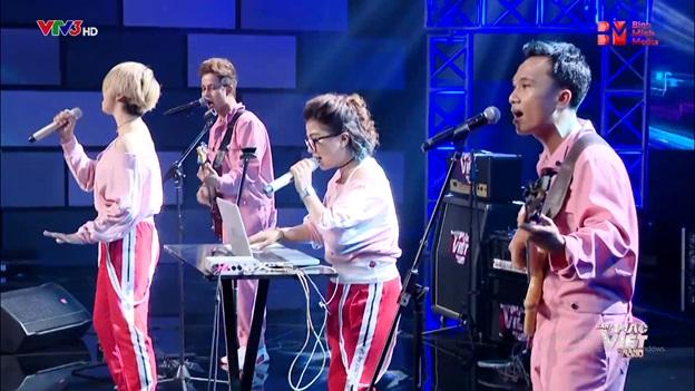 Ban nhạc Việt tập 8: Nhờ ông xã Anh Quân phối khí, Mỹ Linh cùng ban nhạc ngựa chiến khuynh đảo đêm thi