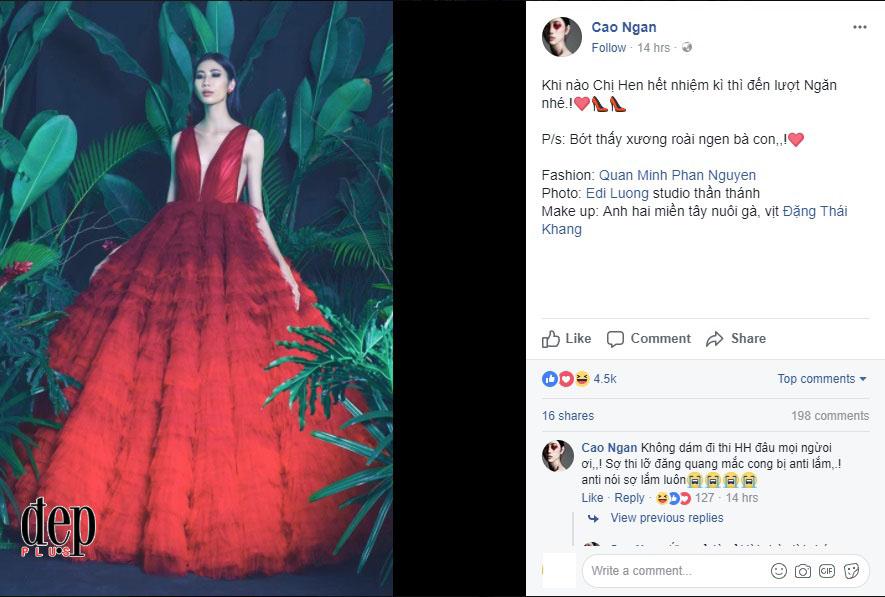 Bốn tháng sau khi gây sốc với vóc dáng gầy gò như bộ xương di động, Cao Ngân bất ngờ tuyên bố năm sau sẽ đi thi Hoa hậu Hoàn vũ