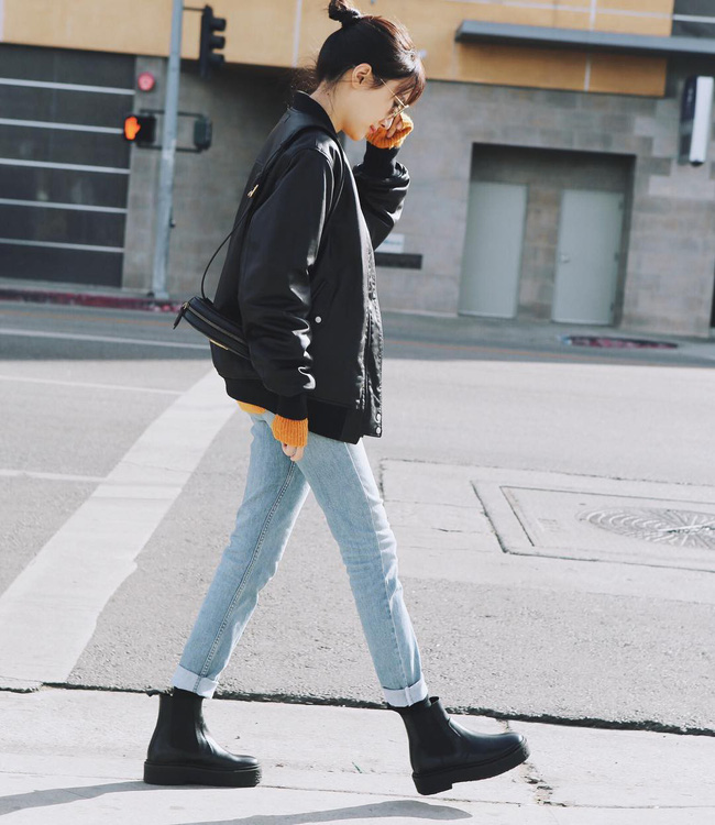 'Ngôi sao' của mùa đông chính là quần jeans và 15 set đồ sau sẽ giúp các nàng biến hóa tài tình với item này - 6