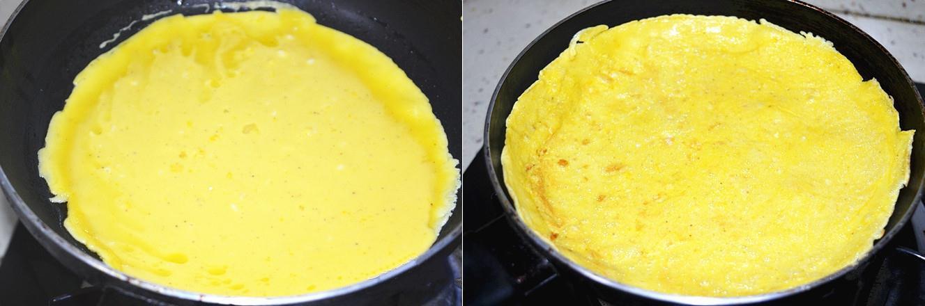 Bữa sáng ngon lạ với bánh trứng chiên cuộn chà bông - 2