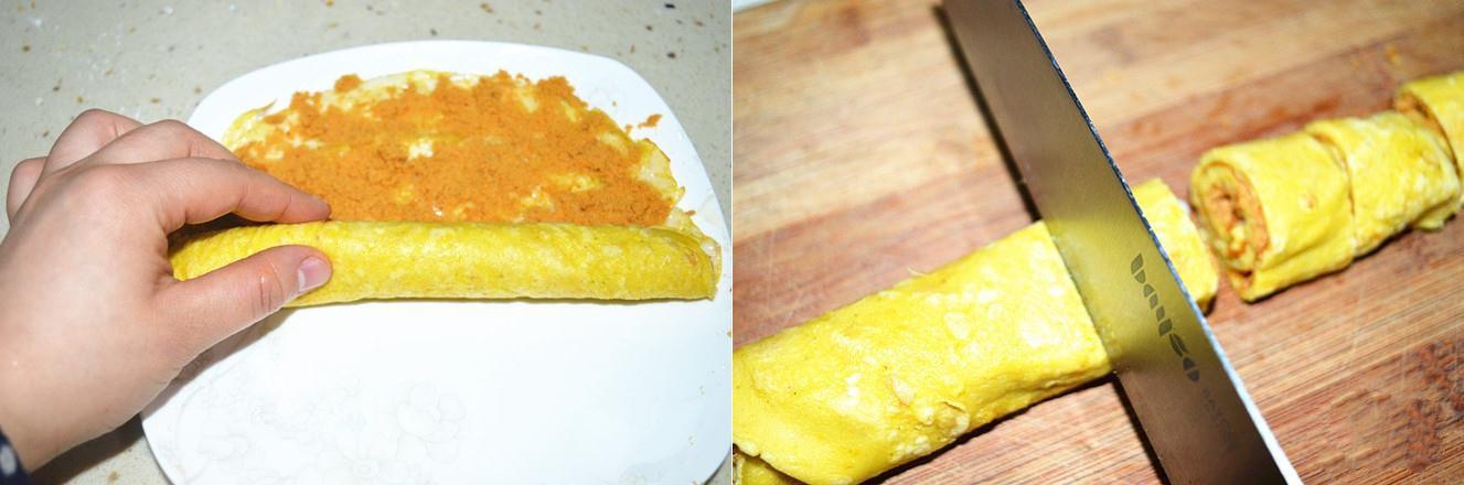 Bữa sáng ngon lạ với bánh trứng chiên cuộn chà bông - 4