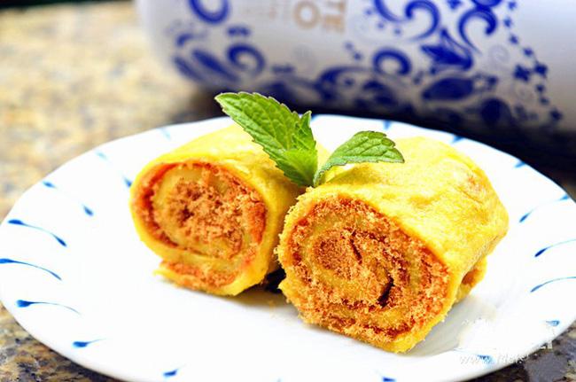 Bữa sáng ngon lạ với bánh trứng chiên cuộn chà bông - 5