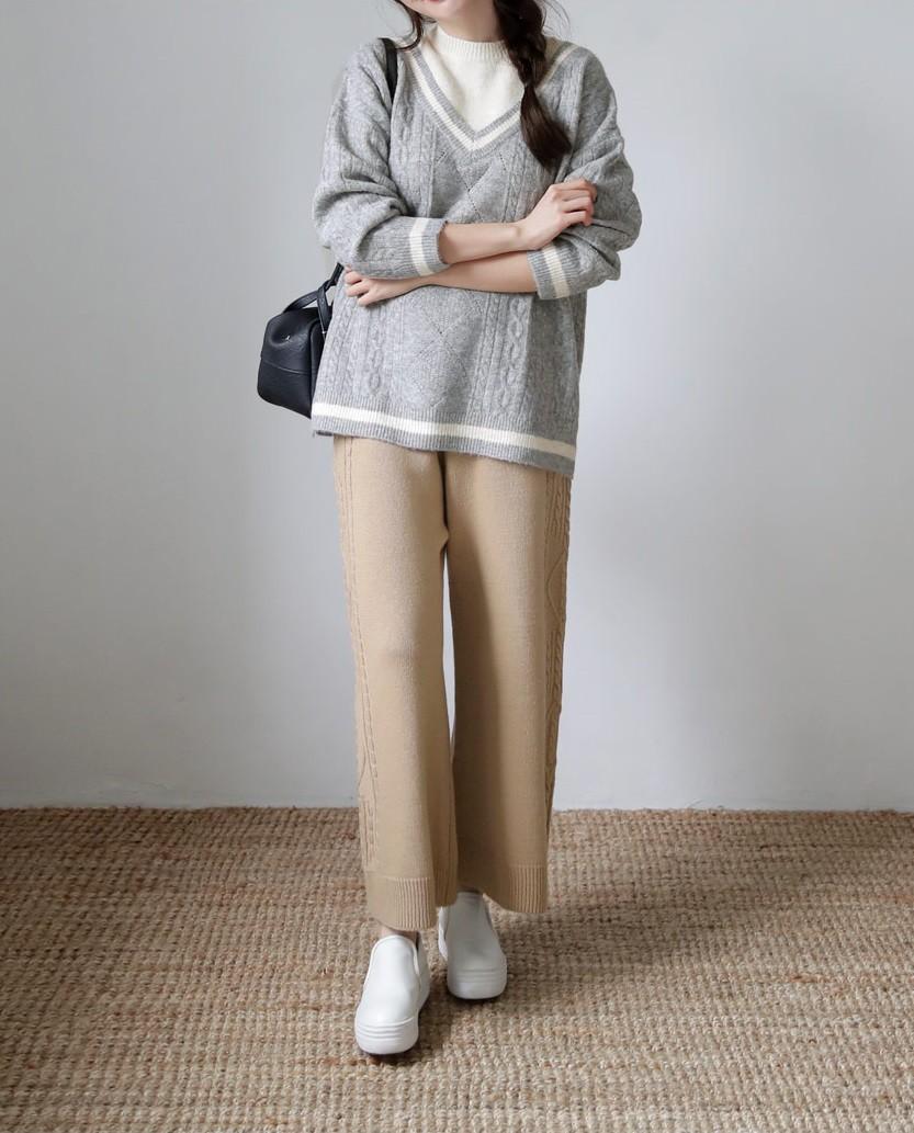 Diện lên vừa 'tây' lại thoải mái tuyệt đối, quần len chính là item mà các nàng cần sắm ngay cho tủ đồ mùa lạnh - 1