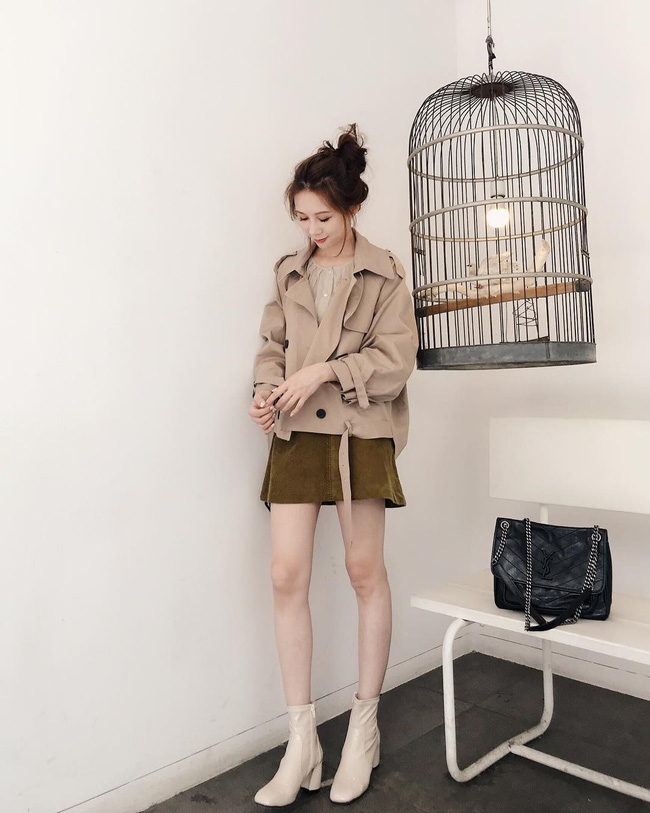 Ngại mặc trench coat vì sợ nuốt người, nàng mét rưỡi có ngay một phiên bản dáng lửng giúp tôn chiều cao cực đỉnh này