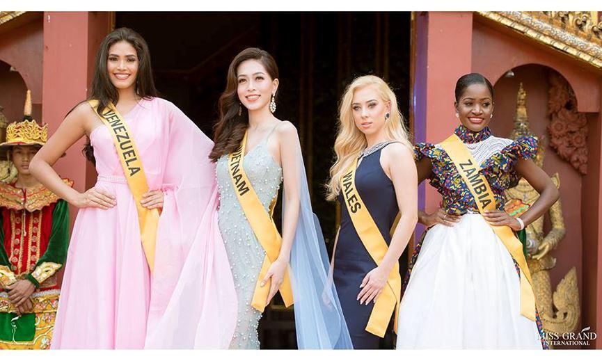 Phương Nga và dàn thí sinh Miss Grand đọ sắc lộng lẫy với đầm dạ hội