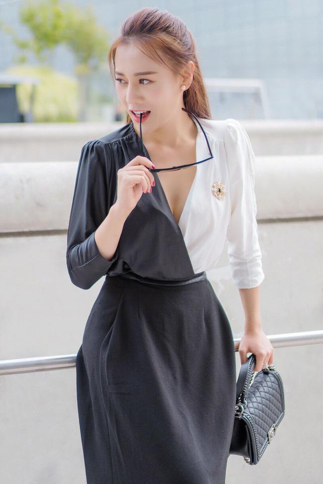 Phương Oanh 'Quỳnh búp bê' khoe style cá tính ở Hàn Quốc - 4