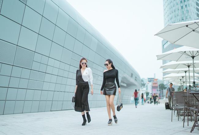 Phương Oanh 'Quỳnh búp bê' khoe style cá tính ở Hàn Quốc - 6