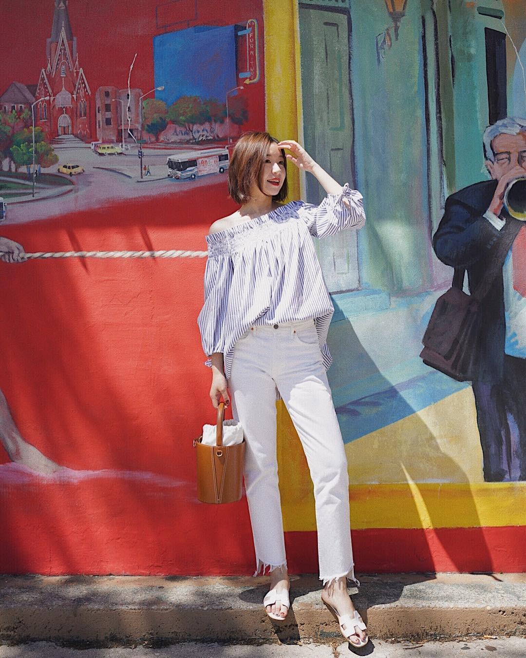 Có một kiểu quần mà các nàng cứ diện lên sẽ trẻ trung và nữ tính hơn bội phần, đó chính là quần jeans trắng - 9