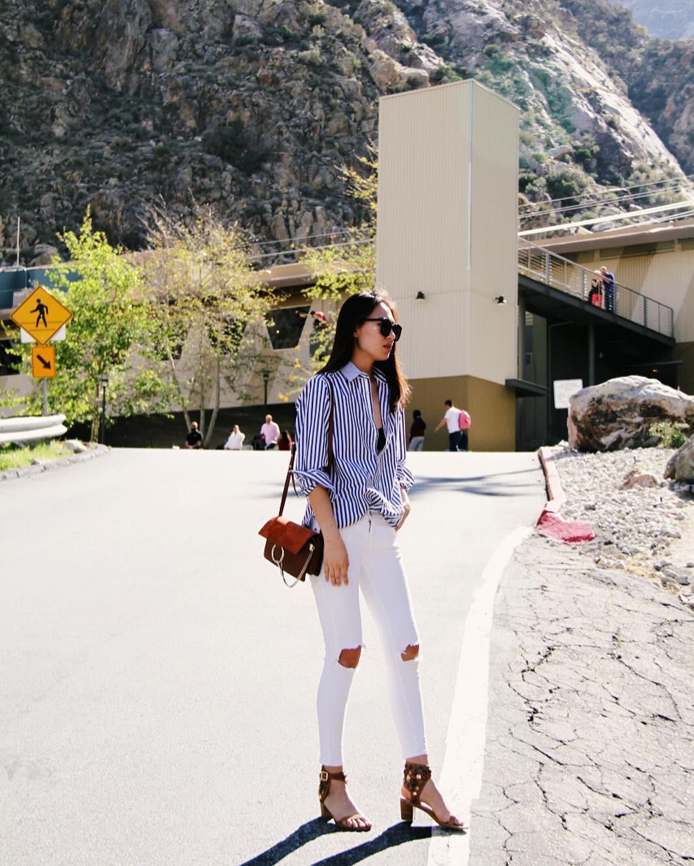 Có một kiểu quần mà các nàng cứ diện lên sẽ trẻ trung và nữ tính hơn bội phần, đó chính là quần jeans trắng - 11