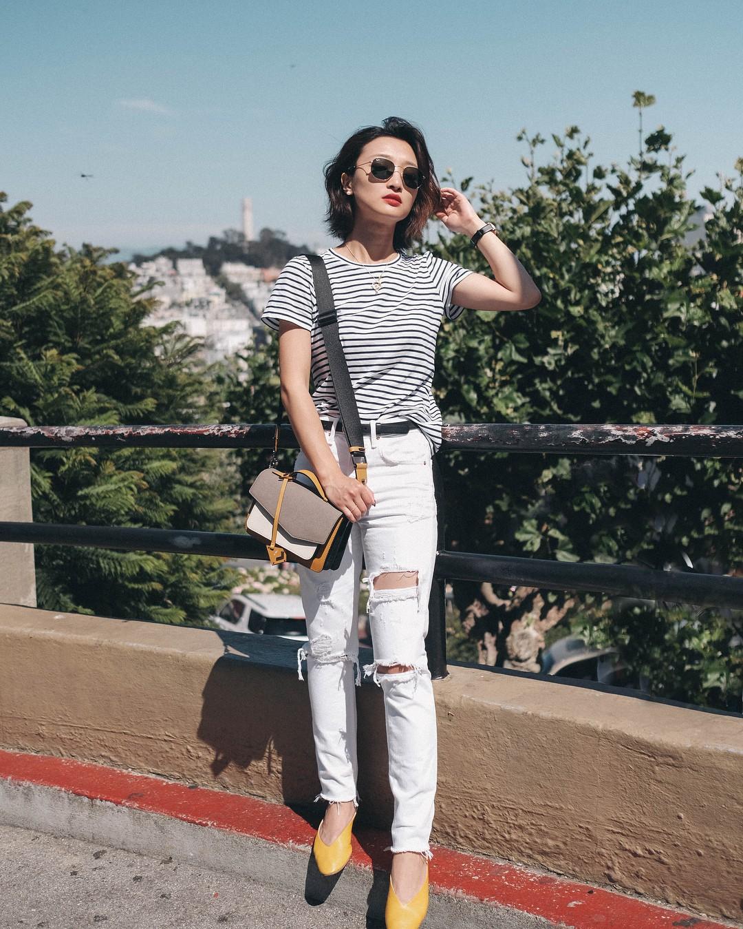 Có một kiểu quần mà các nàng cứ diện lên sẽ trẻ trung và nữ tính hơn bội phần, đó chính là quần jeans trắng - 6