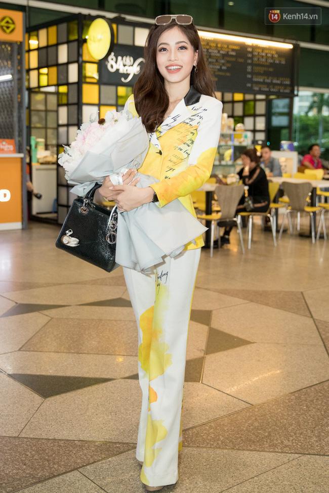 Hoa hậu Tiểu Vy ra tận sân bay đón Phương Nga trở về nước sau hành trình tại Miss Grand International 2018