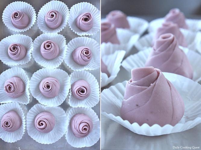 Mãn nhãn món bánh bao hoa hồng rực rỡ sắc màu - 10