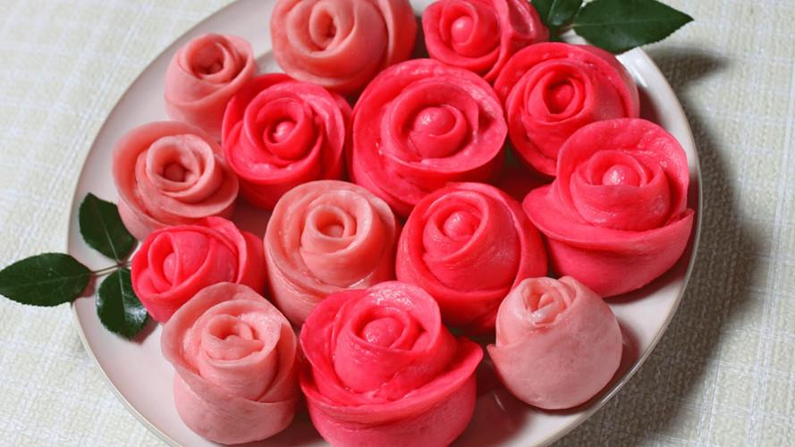 Mãn nhãn món bánh bao hoa hồng rực rỡ sắc màu - 3