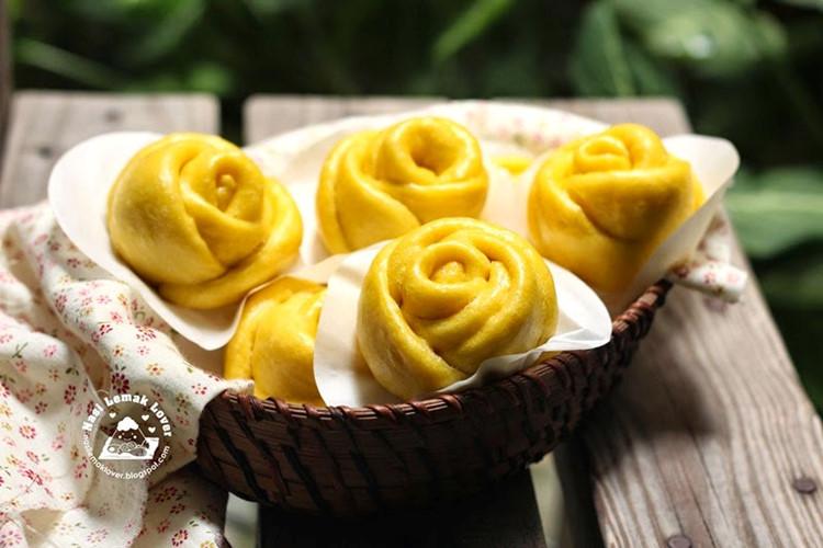 Mãn nhãn món bánh bao hoa hồng rực rỡ sắc màu - 4
