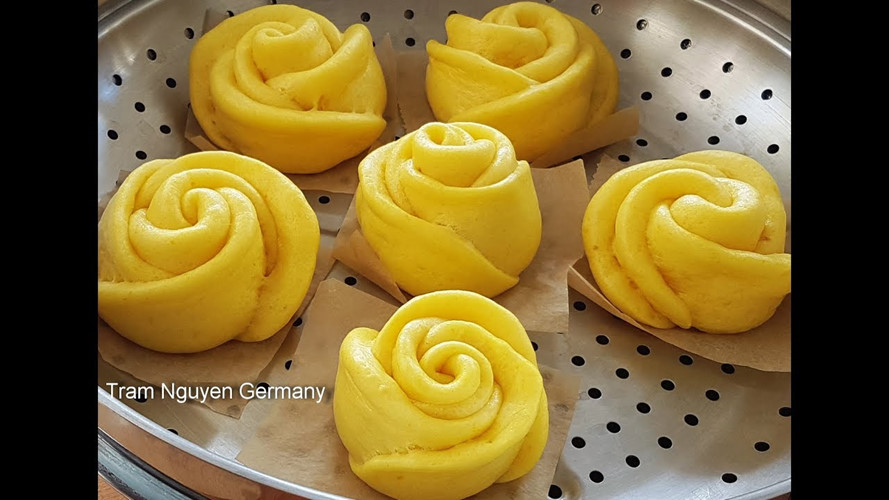 Mãn nhãn món bánh bao hoa hồng rực rỡ sắc màu - 5