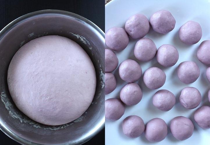 Mãn nhãn món bánh bao hoa hồng rực rỡ sắc màu - 6